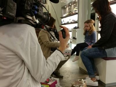 Opname RTL 4 bij Penninx Schoenen