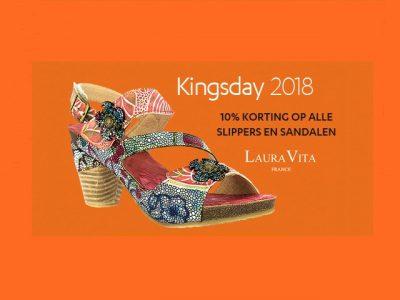 Op Koningsdag 10% korting op alle sandalen en slippers!