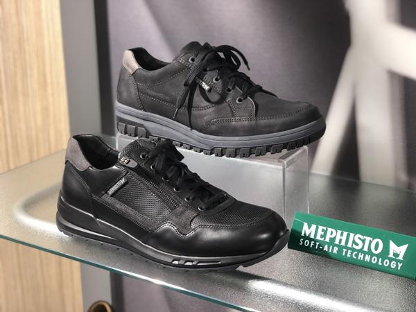werkschoenen horeca met anti slip zool - mephisto zwarte herenschoenen
